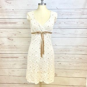 """Finesse"" Flower Mini Dress Beige ""M"""
